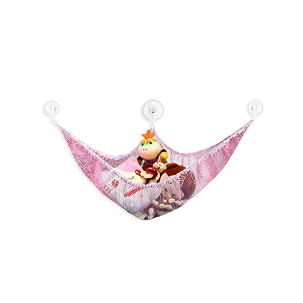 Starworld Stuffed Toy Hammock, Pet Storage Net Organiser Holder for Kids Children Animal Toys / Pink 47.2 x 35.4 x 35.4 inch Starworld6 This big toy hammock keeps your house organised and tidy without messy toysm all stored well; Eliminates room and bathtub clutter while neatly organizing toys; Perfect storage for plush animals and dolls and other collections; Brilliant for putting all your kids' teddies in; 2
