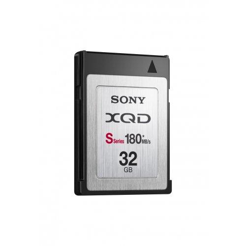 Sony XQD-Serie S - Tarjeta de memoria XQD de 32 GB (180 MB/s, -25 - 65 °c, 3.6 V), negro y plata