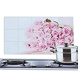 Hongdett Cute Aluminum Foil Self-adhensive Waterproof Kitchen Oil Sticker Wall Sticker Anti Oil Kitchen Wallpaper Home Decoration(multicolor)