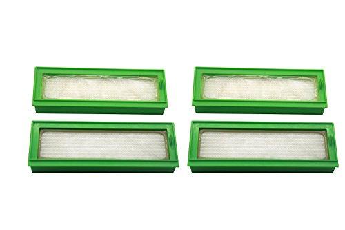 Lot de 4 Filtres HEPA pour les Robots Aspirateurs Vorwerk Kobold VR200 Produit Authentique de Green Label