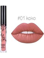 Demarkt cation Lip Gloss Beauty Waterproof Liquid Lipstick Lip Gloss Durable Long Lasting Matte A01 1PC