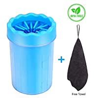 Bojafa Pet Dog Paw Cleaner for Dogs Paw Foot Cleaning, Portable Muddy Paw Brush Cleaner for Large Medium Dogs Paw Quickwash Paw Cleaner