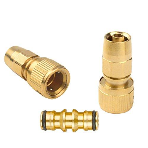 Lot de joint de tuyau de jardin extensible Joint mâle adaptateur de tuyau avec raccord rapide pour réparations