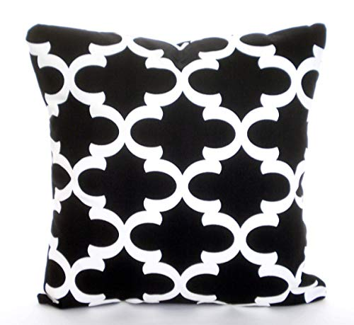 Claude6yhAly Black White Throw Pillow Covers Kissen Kissen Kissen Kissen Dekorative Pillow marokkanische Bed Euro Sham Werfen Pillow - Euro-dekorative Kissen