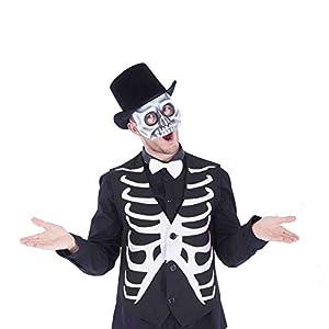 Rubies- Mascara de esqueleto media cara, Talla única (Rubie