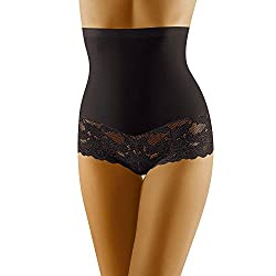 Wolbar Damen Hipster Slip WB183, Schwarz,Medium