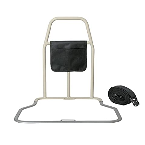 MEYLEE Aluminum alloy Easy Grip Bed Support Handle Support Rail Disability Aid / With Storage Bag and 6m Seat belt