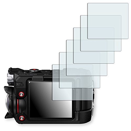 6x Golebo Semi-Matt protectores de pantalla para Olympus TG-Tracker - (efecto antirreflectante, montaje muy fácil, removible sin residuos)