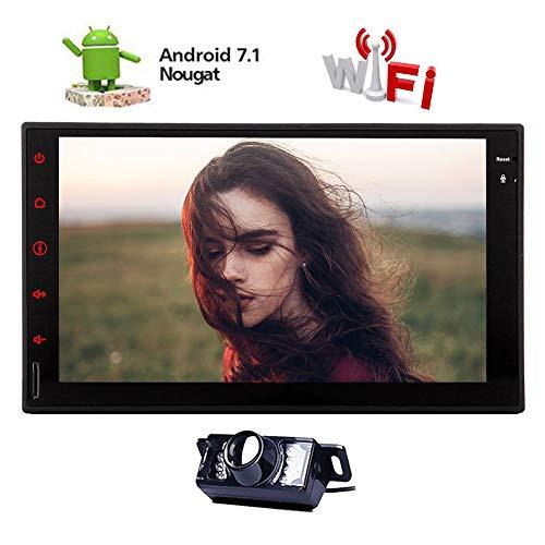 EINCAR Octa-Core-Android 7.1 Auto-Stereo im Schlag GPS-Navigations-Radio-7-Zoll-Head Unit Doppel-DIN-Autoradio Bluetooth 1024x600 Touch Screen USB/SD-Videoausgang WiFi 2GB 32GB Backup-Kamera Ei Mpg, Ipod Video