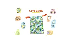 Superbottoms Cloth Diaper Wet Bag with Dual Compartment and Generous Sizing - Love Earth