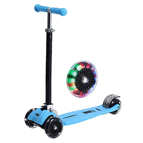 Scooter/Può sollevare uno scooter/Flash ruota Scooter-blu