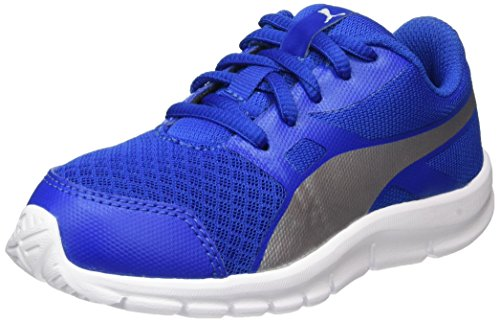 Puma Unisex-Kinder Flexracer PS Sneaker, Blau (Lapis Blue-Silver), 35 EU