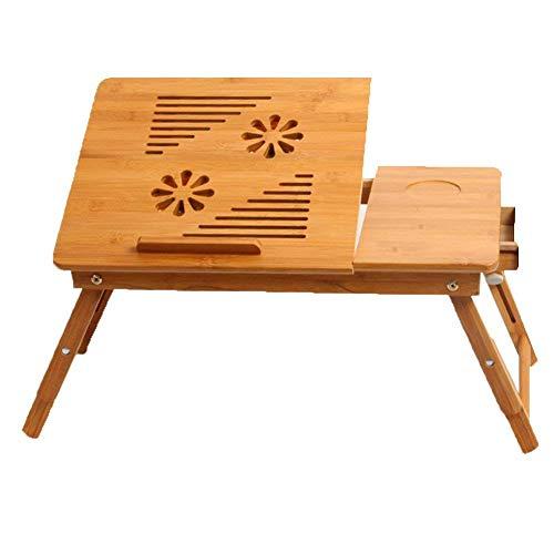 ZOUQILAI Ohne Lüfter Faltbarer Laptop Tisch Notebook Schreibtisch Tischständer für Bett Tragbarer Schoss Schreibtisch Frühstücks-Frühstückstablett für Sofa Couch Boden (Hund-tisch Kindersitz)