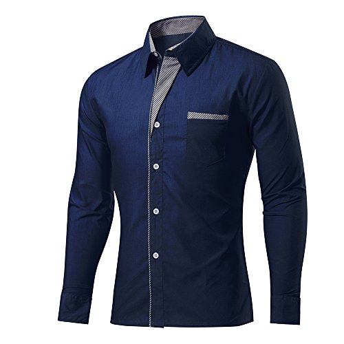Spring and Summer Fashion Brand Men Clothes Slim Fit Men Long Sleeve Shirt Casual  Men Shirt 2830ee1fe469