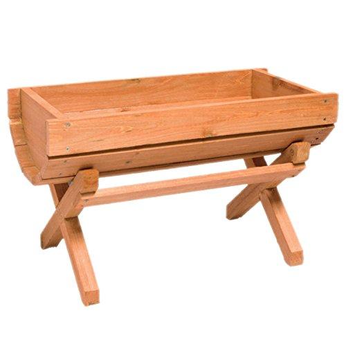 Sti portavaso fioriera in legno grigliato a culla 50x25x35