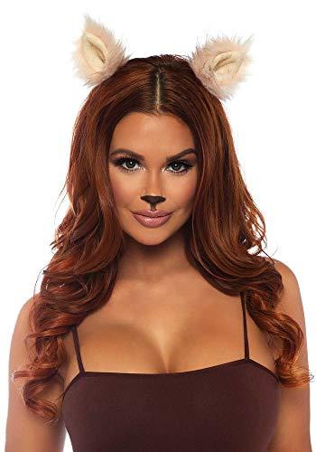 shoperama Fellohren für Tier-Kostüme Katze Bär Wolf Fuchs Tierohren Ohren Katzenohren Kostüm-Zubehör, Farbe:Rosa (Rosa Haar Katze Kostüm)