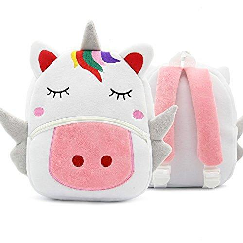 (Unicorn Plüsch Jungen Mädchen Rucksack Kindergarten Kuscheltier/Babys Kinderzimmer Rucksack für 2-4 Jahre Kinder Rucksäcke(L23.5*M10.25*H26CM)-Formemory)