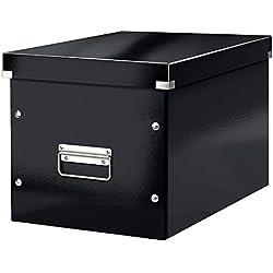 Leitz 61080095 Click & Store Boîte de rangement cubique Taille L Noir