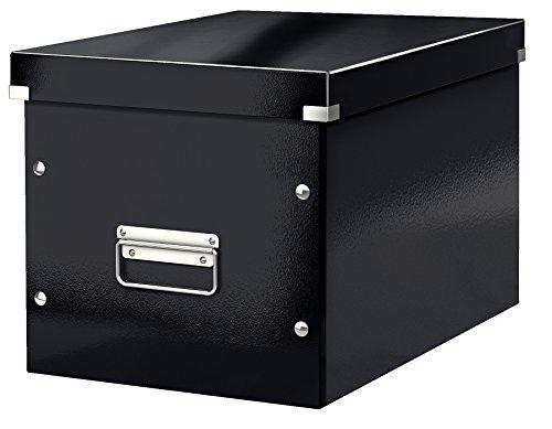 Leitz click & store scatola archivio cubo l, cartone plastificato, 32 x 31 x 36 cm, nero, 61080095