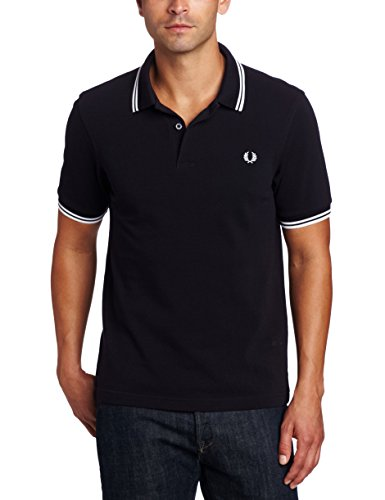 Fred perry fp twin tipped shirt, maglietta da uomo, navy/white, xl
