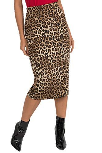 Joseph Ribkoff Brown & Multicolor Leopard Print Pencil Skirt Style - 193553 Fall 2019