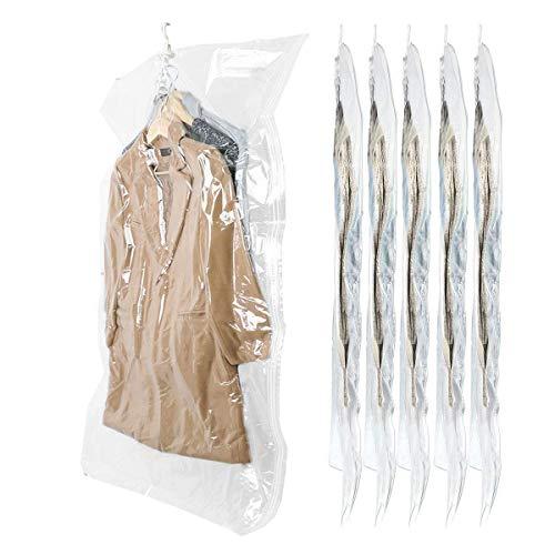 Sunhorde 6 pezzi borsa da appendere spazio vestiti, vestito, cappotto invernale borsa sottovuoto, 6 pezzi 135 cm x 70 cm, grande protezione riutilizzabile abbigliamento