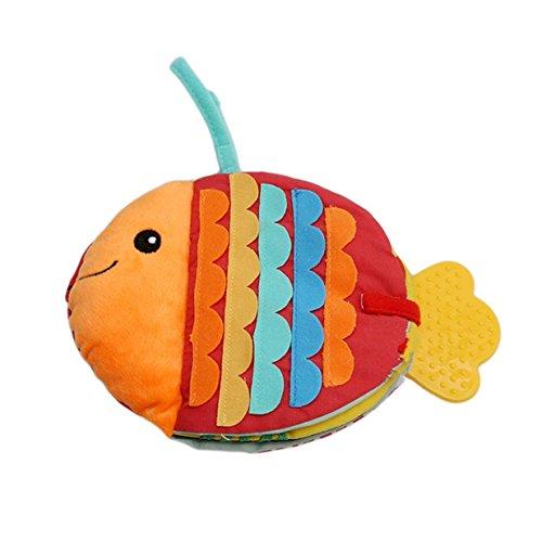 Lalang Farbe Fisch Babybuch,Früh Lernen Lernspielzeug Tuch Buch