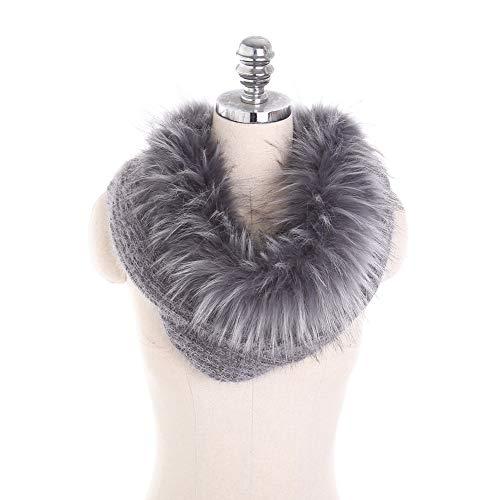 Amorar donna inverno sciarpa scialli faux fur loop tubo sciarpa lavorata a maglia sciarpa con cappuccio sciarpe avvolgere scaldacollo collo
