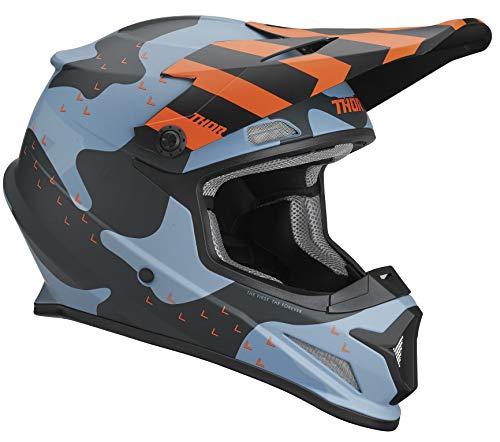 Thor Sector Mosser Motocross Helm Blau/Orange M (57/58) (Erwachsene Thor Helm)