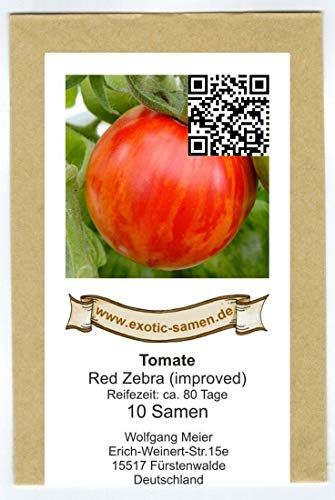 Tomate - Red Zebra improved - Red Lightning - 10 Samen