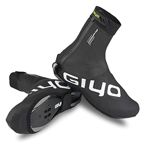 Lixada GIYO Cubierta de Zapatos de Bloqueo de Ciclismo en Invierno Cubrebotas MTB Impermeable A Prueba de Viento Calzado de de Vellón Cálido (M)