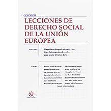 Lecciones de Derecho Social de la Unión Europea (Manuales Derecho)
