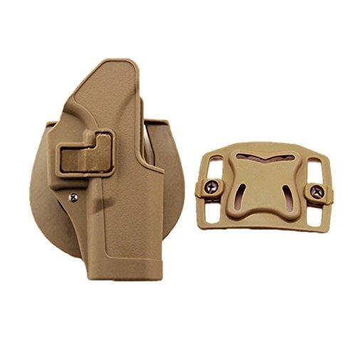 haoYK Taktische Airsoft Pistole Concealment Ziehen Rechtshänder Paddle Gürtel Holster Pouch für Glock 17 19 22 23 31 32 (DE) Glock 23 Magazin-holster