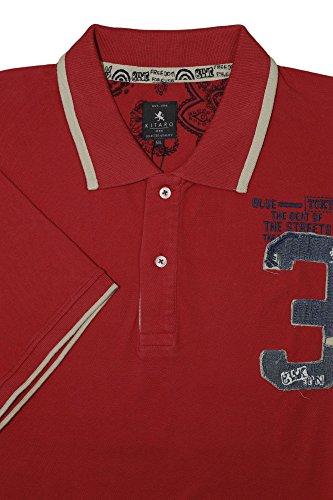 Kitaro Poloshirt Überlänge 'The Beat Of The Streets' Rot Rot