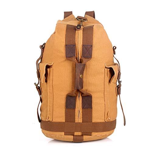 HRTX Reise-Laptop-Rucksack, große Reisetaschen, Reisetasche Handgepäck-Business-Tasche, wasserdichter Schulrucksack for Frauen und Männer (Color : Khaki)