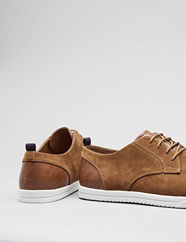 Trovare Uomini Derby Sneaker In Pelle Scamosciata Look Marrone (tan)