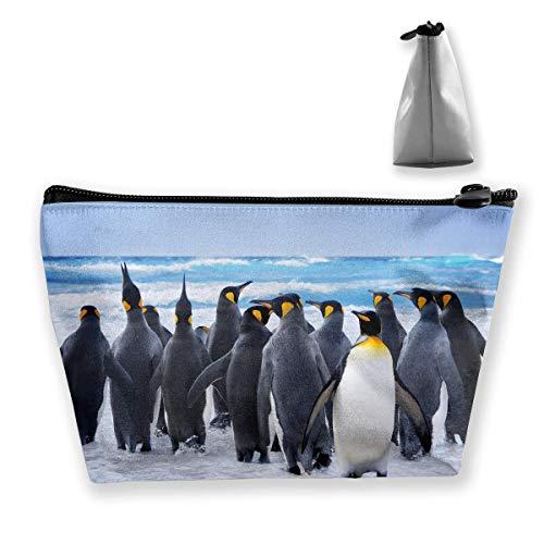 Penguin On Beach Mehrzweckstift Bleistift Taschen Zubehör Tasche Make-up Tragetasche -