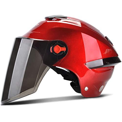 Casco Moto con Visiera bi-visore Aperto · Casco ciclomotore ciclomotore Casco anticollisione · Certificazione ECE Quattro Colori (Color : B)