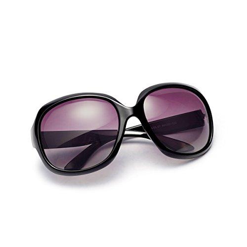 AkoaDa Sonnenbrille Damen Polarisiert Anti-Reflexion 100% UV 400 Augenschutz Brille, Schwarz Sonnenbrille für Fahren, Angeln, Reisen, Outdoor...