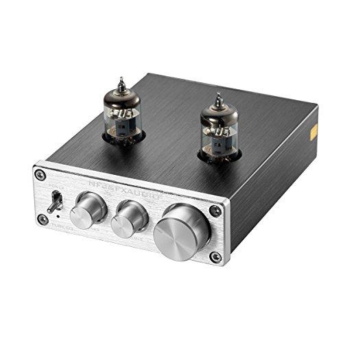 Nobsound Mini 6J1 Vacuum Tube Preamplifier Hi-Fi Stereo PreAmp Treble & Bass & Volume Control Vorverstärker (Silver)