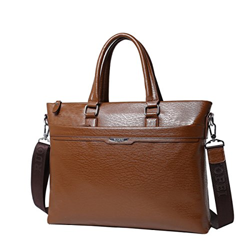 Herren Casual Umhängetasche Mens Einfache Modische Diagonale Paket Unisex Business Portable Aktenkoffer Paket,Brown-M (Einfach Portable Notebook)