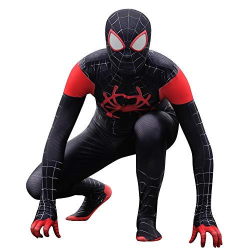 (ZYFDFZ Spiderman Cosplay Black Spider Kostüm für Erwachsene Halloween Body Jumpsuits Movie Show Requisiten Kinder Cosplay (Farbe : Headgear separation, größe : S))