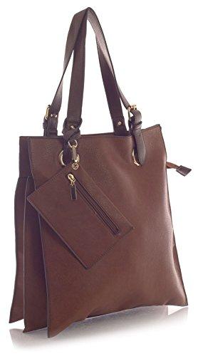 Big Handbag Shop , Damen Tote-Tasche One Braun - Medium Tan