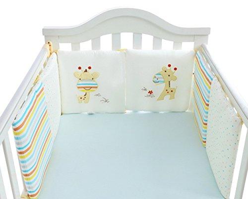 YWXJY Baby Infant Krippe Bumper Pads Bett Cradle Protector atmungsaktiv, Kinderbett schlafen Kissen,...