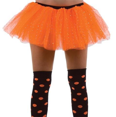 orange 3 couche de filet tu tu jupe à paillettes, une taille env 36-40.