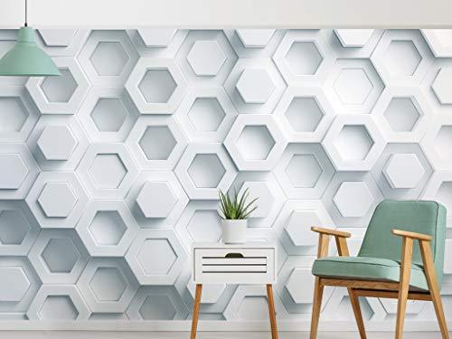 HD Wandbild Tapete Wall Art Print Poster 3D solide geometrische Hintergrund frische nordischen Pentagon Wandbild Home Decoration-430x300 cm (169.3 von 118.151 in)