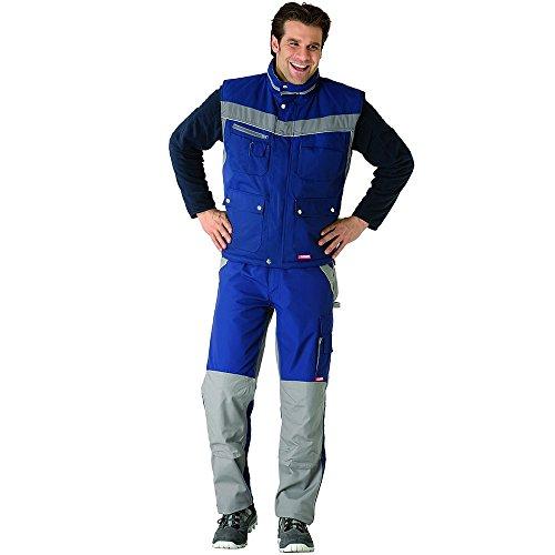 Plaline Arbeitskleidung Winter Weste rot/schiefer marine/zink