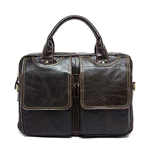 Herren Aktentasche Leder Laptop Tasche aus echtem
