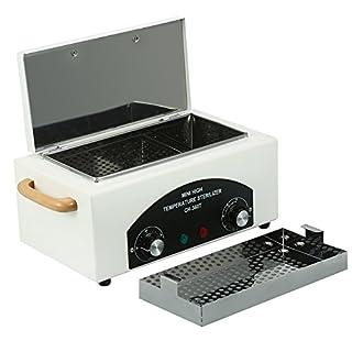 Hochwertig Hochtemperatur Sterilisator Aus Edelstahl mit Heizung Timer Mini Reinigungsgerät für Nagel-Werkzeuge Dental-Werkzeuge Haushalt, 2L