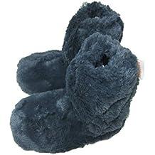 Zapatillas de pelo para mujer, se calientan en microondas, talla de la 37 a